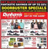 Dunham's Sports Pre-Black Friday Ad 2020