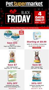 Pet Supermarket Black Friday 4-Day Sale 2020