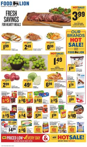 food lion weekly ad oct 6 2021