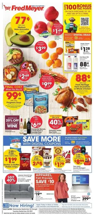 fred meyer ad sep 22 2021