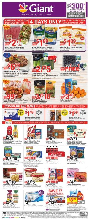 giant weekly ad oct 1 2021