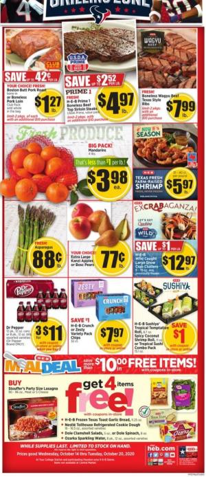 heb weekly ad oct 14 2020