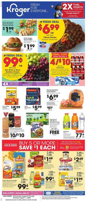 kroger weekly ad aug 5 2020