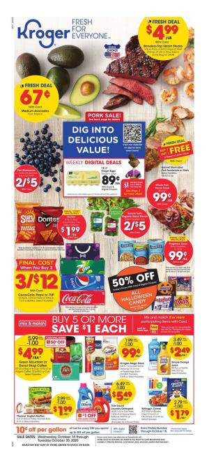 kroger weekly ad oct 14 2020