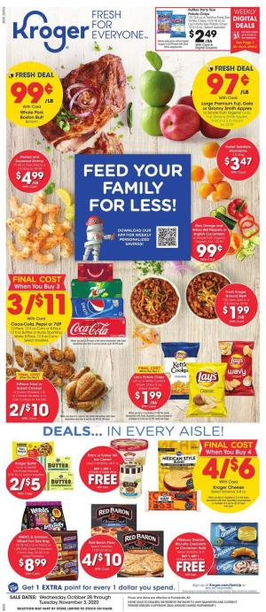 kroger weekly ad oct 28 2020
