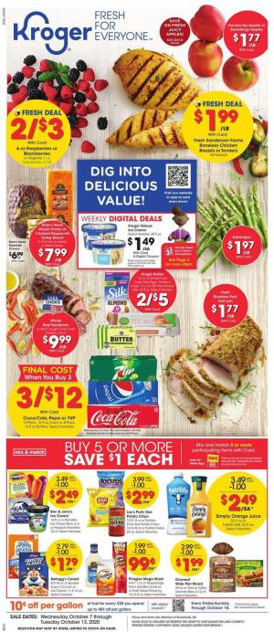 kroger weekly ad oct 7 2020