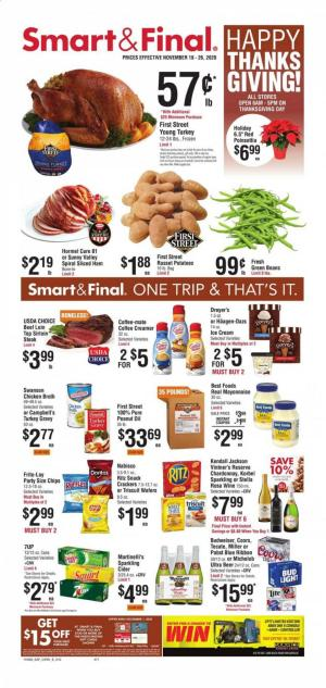 smart and final ad thanksgiving nov 18 2020