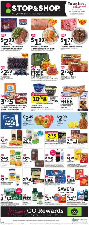 stop and shop weekly ad jan 8 2021