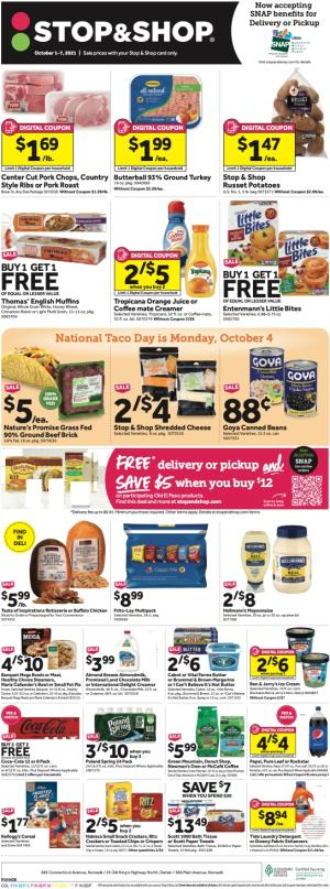 stop and shop weekly ad oct 1 2021