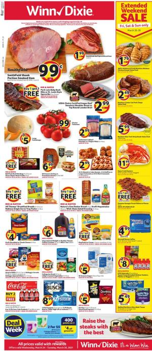 winn dixie weekly ad mar 24 2021
