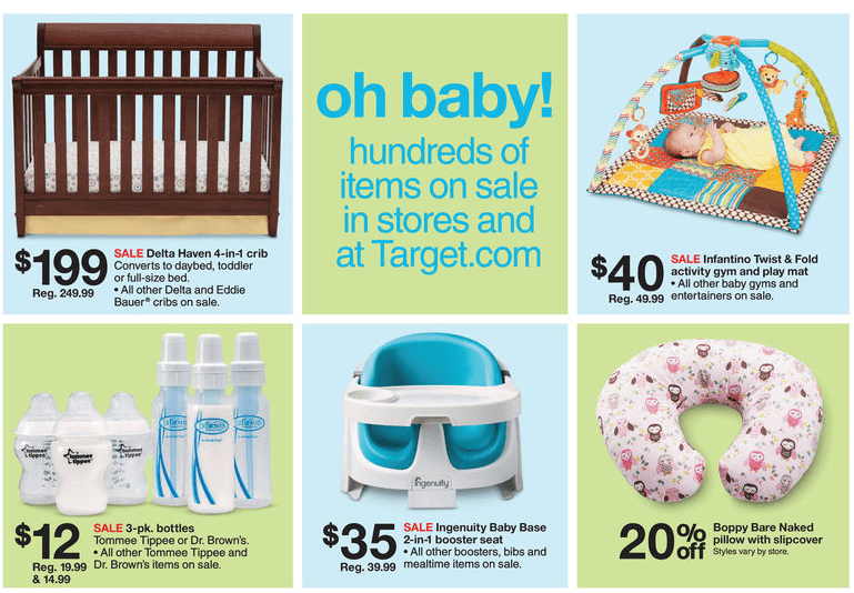 target ad what a baby wants
