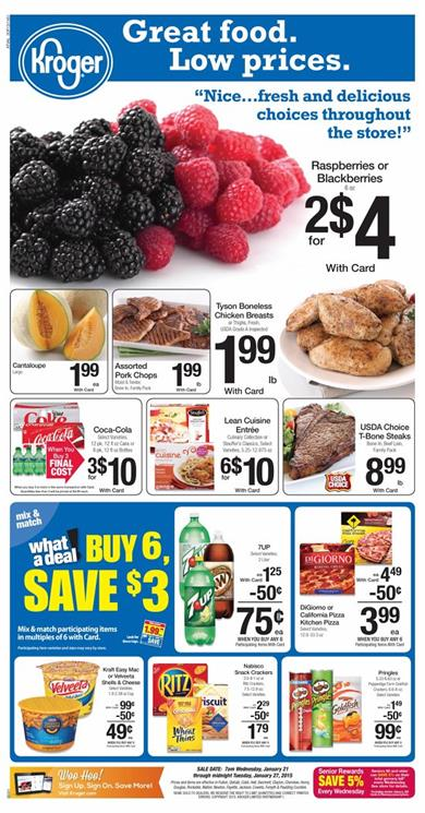 Kroger Ad Preview 1-21 Great Food Offers