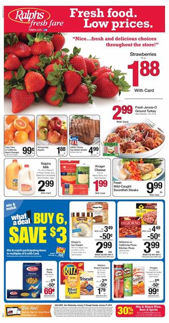 Ralphs Weekly Ad Meat and Seafood January 2015