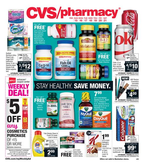 CVS Weekly Ad February Supermarket Products 2015