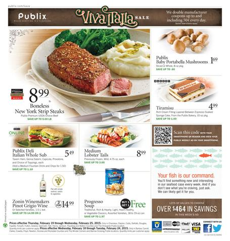 Publix Weekly Ad Meals February 2015