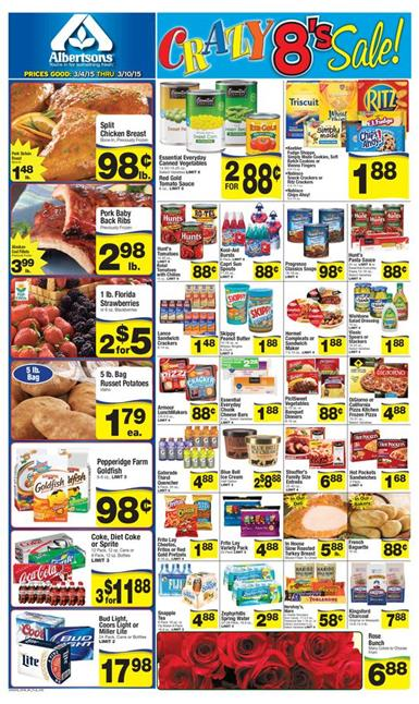 Albertsons Ad Crazy 8 Sale March 2015