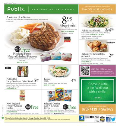 Publix Weekly Ad Preview Meals March 2015