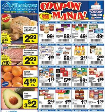 Albertsons Ad 8th April 2015 Coupons and Meals