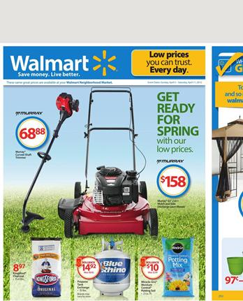Walmart Outdoor Products and Food Deals April