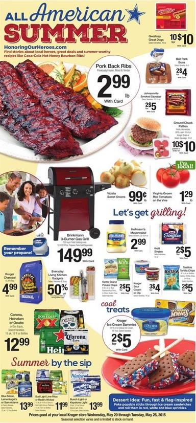 Kroger Ad Grilling Supplies 23 May 2015