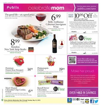 Publix Mothers Day Meals and Drinks 6 May 2015