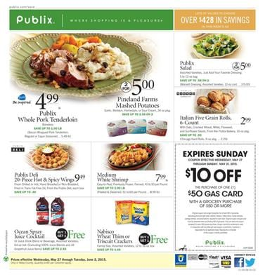 Publix Weekly Ad Preview May 27 2015 Meals