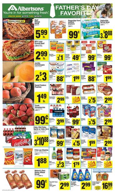 Albertsons Ad Coupons and Fathers Day Jun 17 2015