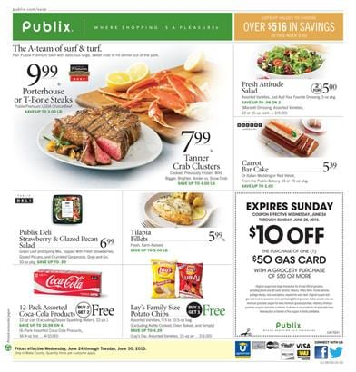 Publix Weekly Ad 6 24 2015 Meals and Products
