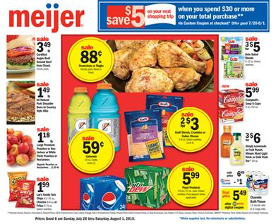Meijer Weekly Ad Preview Jul 26 - Aug 01 2015