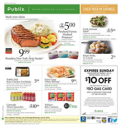 Publix Weekly Ad Products Jul 22 - Jul 28 Meals 2015