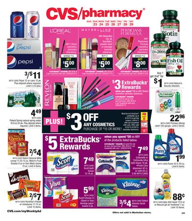 CVS Weekly Ad Aug 23 Food Products And Pharmacy 2015