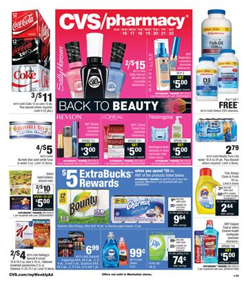 CVS Weekly Ad Pharmacy and Beauty Aug 16