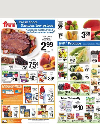 Frys Food Weekly Ad Products Aug 19 2015