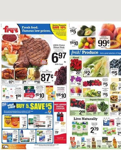 Frys Weekly Ad Food 8 5 - 8 11 Prices 2015