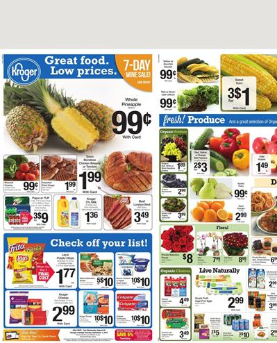 Kroger Weekly Ad Food Aug 26 2015