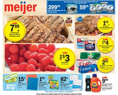 Meijer Weekly Ad Food Aug 23 - Aug 29 2015