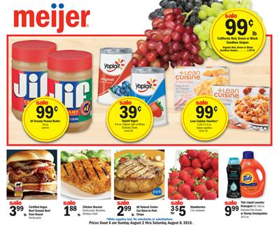 Meijer Weekly Ad Preview Aug 2 - Aug 8 2015