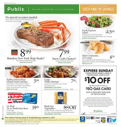 Publix Weekly Ad Preview Aug 27 - Sep 1 2015