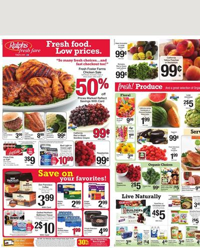 Ralphs Weekly Ad Aug 12 - Aug 18 2015 Food Products