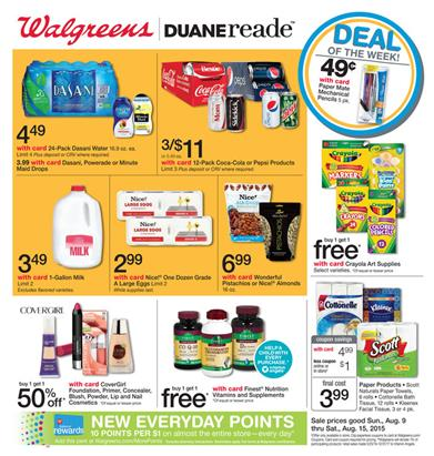 Walgreens Weekly Ad Aug 9 - Aug 15 2015