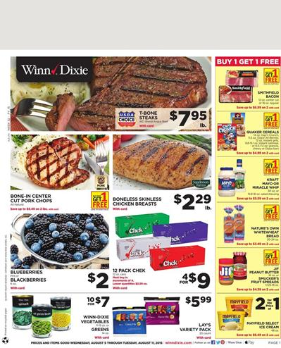 Winn Dixie Weekly Ad 8 5 - 8 11 Products
