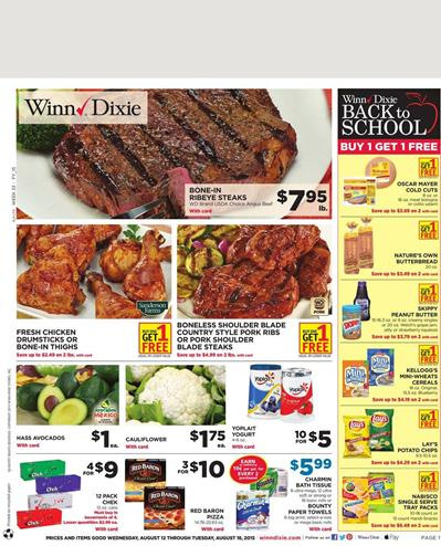Winn Dixie Weekly Ad Aug 12 - Aug 18 2015