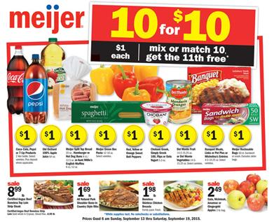 Meijer Weekly Ad Products Sep 13 - Sep 19 2015