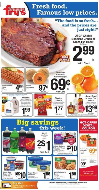 Fry's Weekly Ad Preview Oct 21 2015
