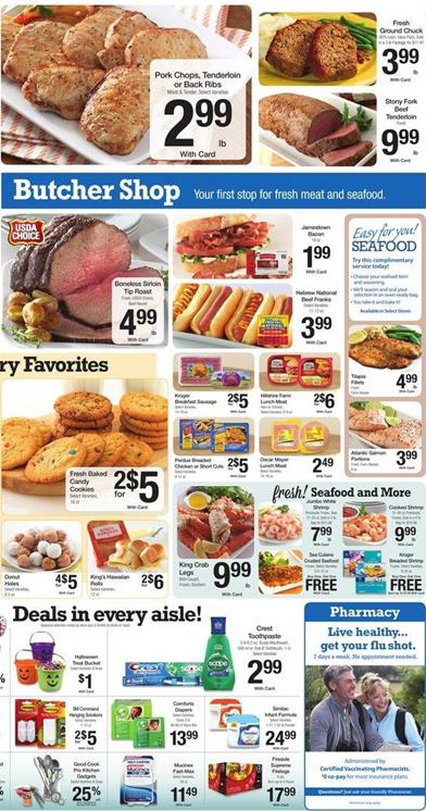 Kroger Ad Fresh Products and Meat Oct 31