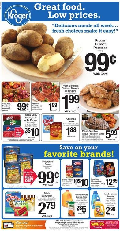 Kroger Weekly Ad Preview Oct 14 2015