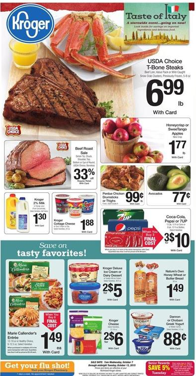 Kroger Weekly Ad Preview Oct 7 2015