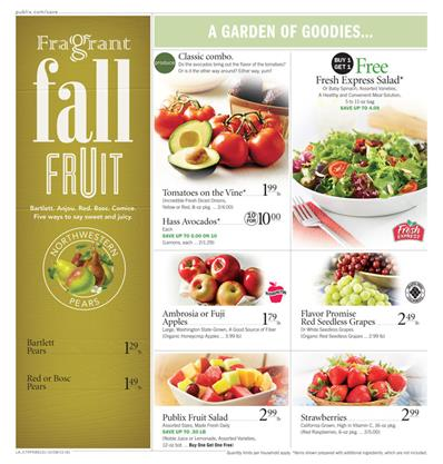 Publix Ad Fresh Products and Bakery Oct 12