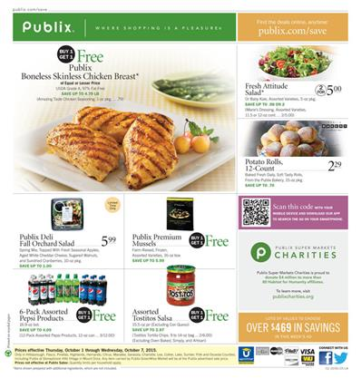 Publix Ad Products Oct 1 - Oct 7 2015