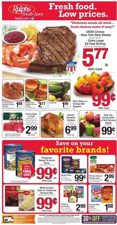 Ralphs Weekly Ad Products Oct 14 2015